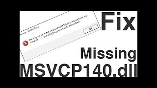 msvcp140 missing windows 8