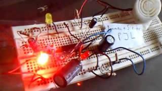 Rangkaian lampu + sirine PJL (miniature railway crossing siren)