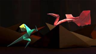 One Leg Canyon [ORIGAMI STOP MOTION ANIMATION]