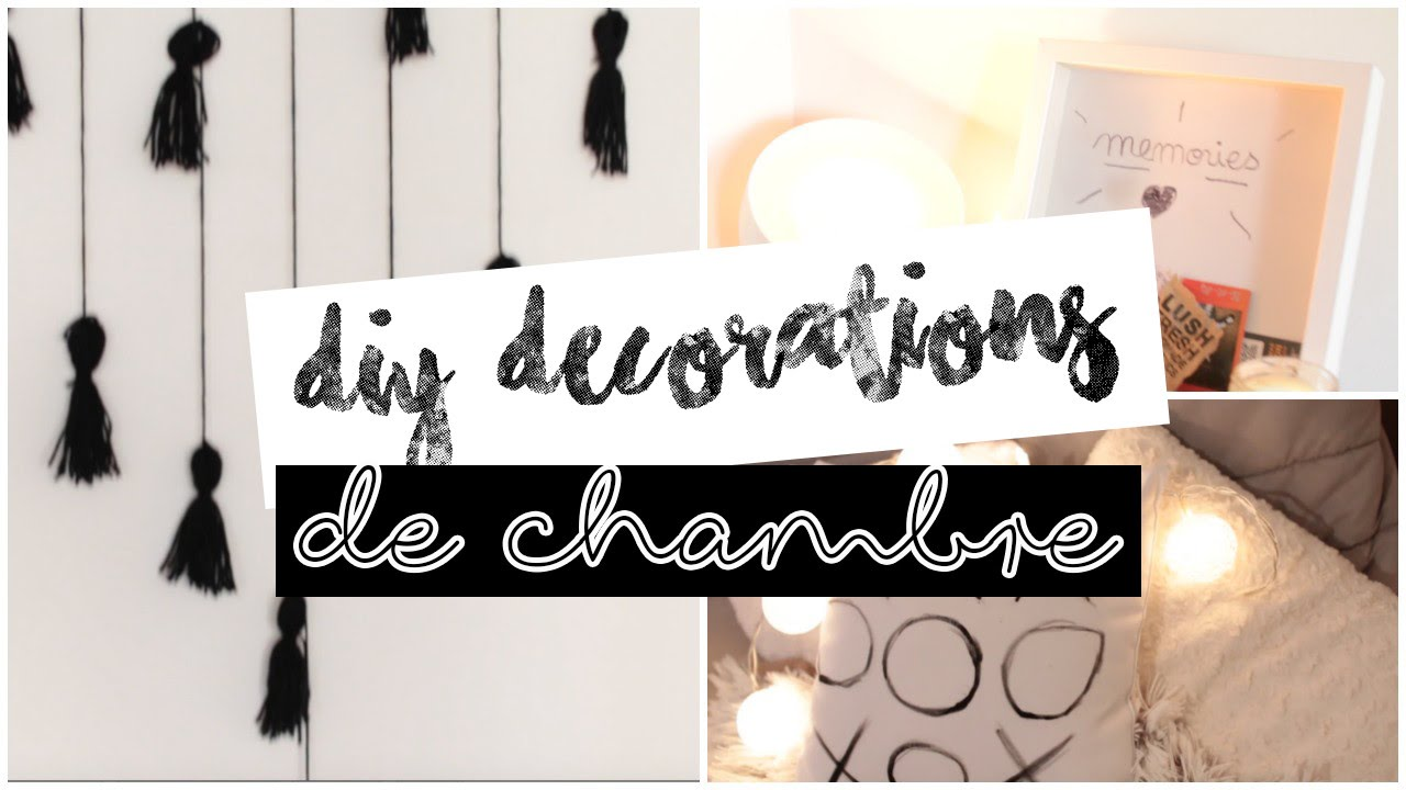 diy black d coration de chambre tumblr facile youtube. Black Bedroom Furniture Sets. Home Design Ideas