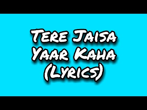 Tere Jaisa Yaar Kaha Lyrics  Kishore Kumar  Amitabh Bachchan  Yaarana 1981 Songs