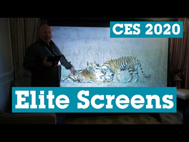CES 2020: Elite Screens MT106UHD5 manual tab-tension projector screen | Crutchfield