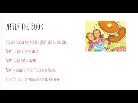 My Even Day Book Lesson Plan