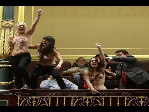 FEMEN en España, topless a favor del aborto
