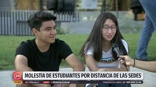De Puente Alto a San Carlos de Appoquindo: Molestia de estudiantes por largas distancia de las sedes