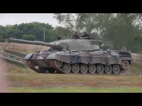 tankfest 2017 Canadian leopard 1 tank  German design parking up 4k 60p