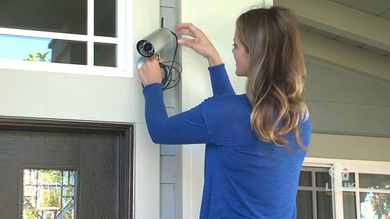 wireless front door cameraHow To Install an Outdoor Wireless Camera  Link Interactive  YouTube