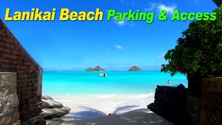 Hawaii Driving  |  Lanikai Beach Parking and Access  |  Lanikai, Kailua, Oahu, Hawaii, USA