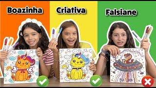 PINTANDO QUADRINHO COM 3 CORES NA ESCOLA!!