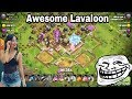 Lavaloon Faming Legend Trophy Awesome Destroy th11 max, CoC 3 star th11