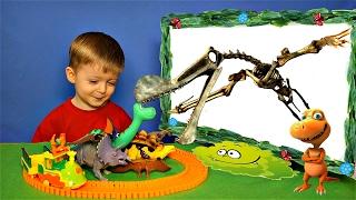 Детям про Динозавров Челлендж Угадай Скелет Динозавра ПТЕРОЗАВРЫ Кетцалькоатль Видео для Детей