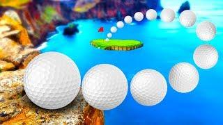 ПОПАЛ В ЛУНКУ НА РАССТОЯНИИ 1000 КМ МЯЧИКОМ ДЛЯ ГОЛЬФА!? Golf it