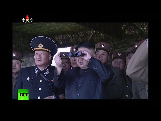 Cutting-edge technologies for the glorious commander: Kim supervising drills in N Korea