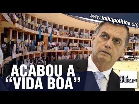 Fim da 'mamata' para presos: Veja vídeos em que Bolsonaro anunciou o que pretende fazer com..