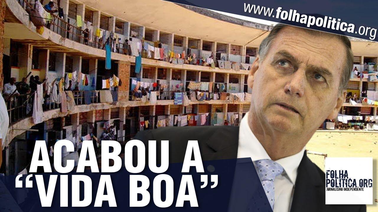 Fim da 'mamata' para presos: Veja vídeos em que Bolsonaro anunciou o que pretende fazer co