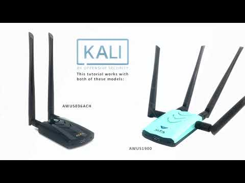 How To Install Alfa AWUS036ACH, AWUS1900 On Kali Linux 2019.2 With Monitor Mode & Injection