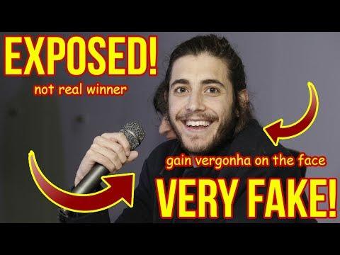 Salvador Sobral exposed! Fake Winner! OMG! Autotune! Picha!