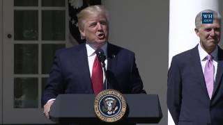President Trump Attends the Swearing-In Ceremony of the Honorable Neil Gorsuch
