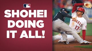 Shohei Ohtani goes 7 innings, allows 1 run, knocks in a run, steals a base, and scores!