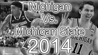 Michigan Vs Michigan State Basketball Trailer (2014)