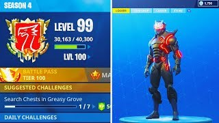WORLDS First LEVEL 100 SEASON 4 in Fortnite - FREE OMEGA SKIN MAX LEVEL 80 in Fortnite Battle Royale
