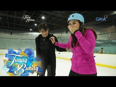Tunay na Buhay: Pancho Magno, tinuruan mag-ice skating si Rhea Santos