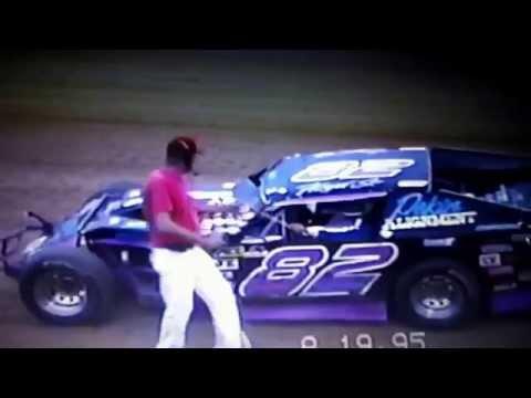 Floyd Jordan Sr. getting checkered flag in 1995.