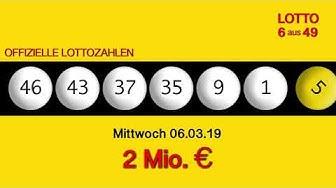 Lottozahlen 06.03.19 Lotto6aus49