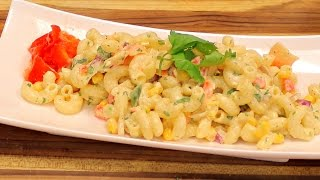 Simple Pasta Salad Recipe - quick italian pasta salad - tasty italian food