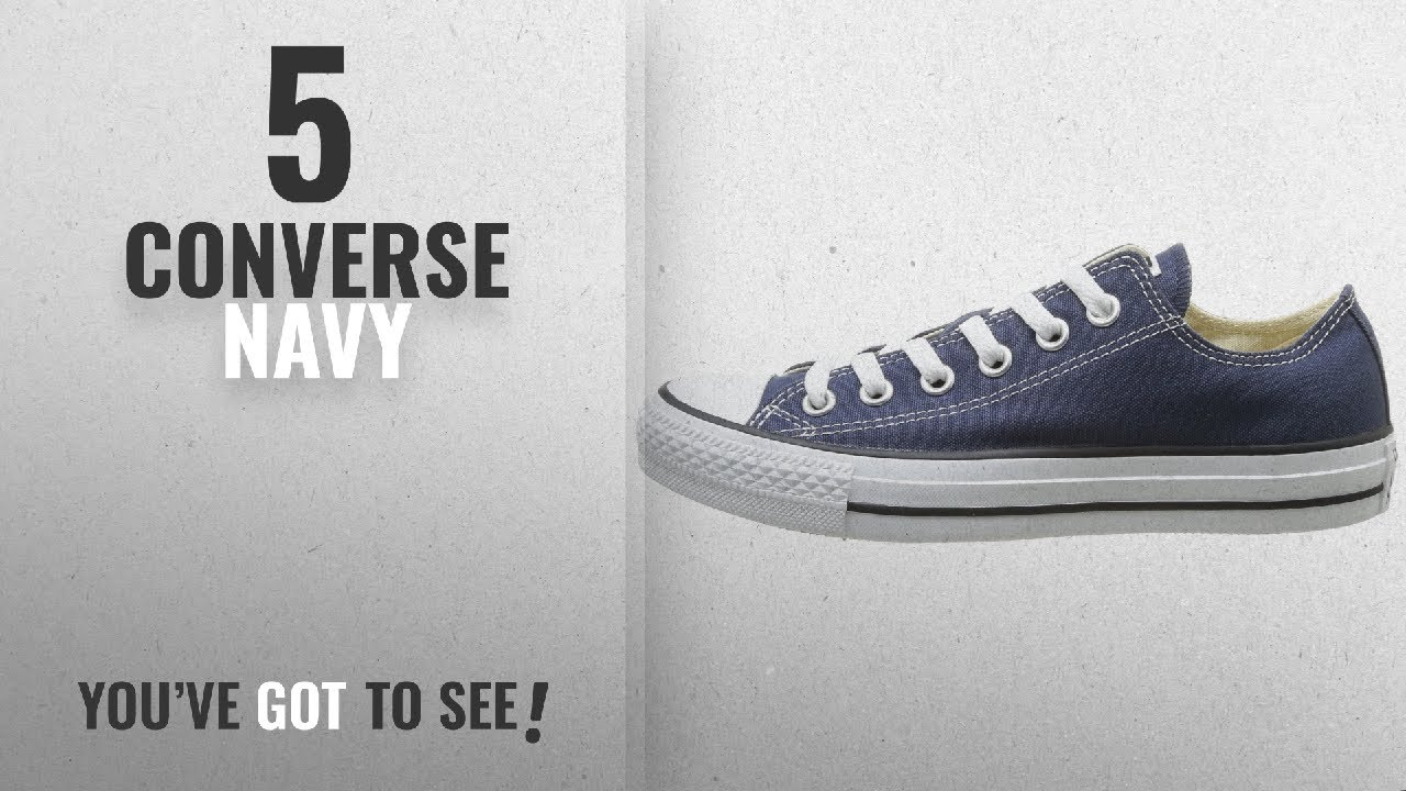 bd14ba315e3d8 Top 5 Converse Navy [2018]: Converse Unisex Chuck Taylor All Star Low Top  Navy Sneakers - 12 B(M)