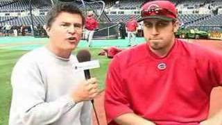Scott Miller with Aaron Harang
