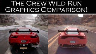 The Crew Wild Run update Graphics Comparison! (HD).