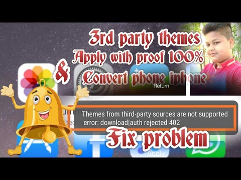 3rd party themes apply  with pruff and convert mobile  to apple iphone without miui theme editor