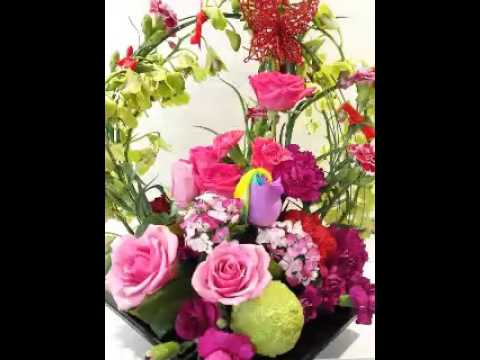 Chinese New year flower arrangements - YouTube