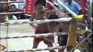 soe lin oo myanmar lethwei warrior vs muay thai 2 ko