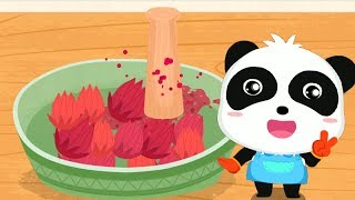 Fun Game for Kids - Baby learns to make cookies from flowers with Little Panda