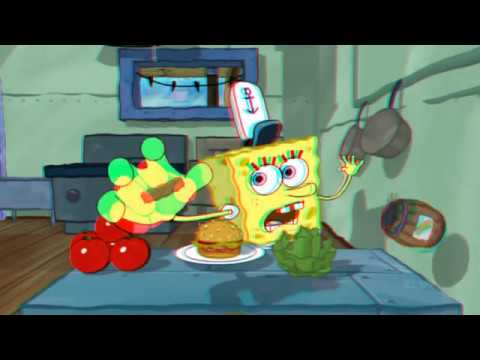 Spongebob 3D Ride (Red Cyan 3D)