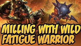 Milling With Wild Fatigue Warrior! | Rastakhan's Rumble | Hearthstone