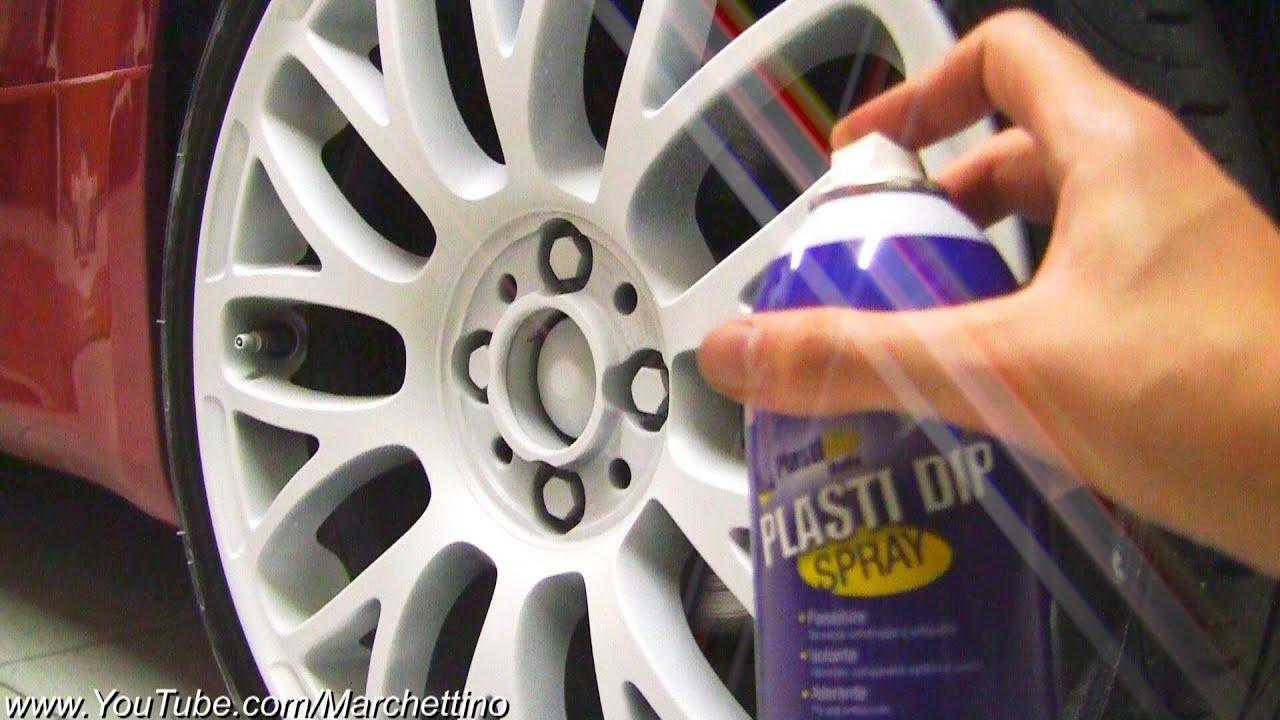 PlastiDip Spray on Wheels to Matte White! - YouTube