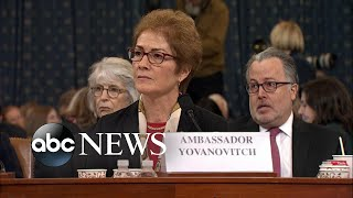Yovanovitch says she would have blocked Trump's Biden requests   ABC News