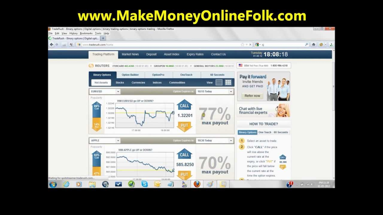 How to make money online trading 60 second binary options