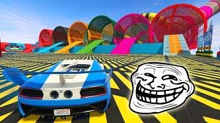CARRERA TROLL ACROBATICA!!!! - GTA V ONLINE