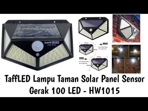 Taffled Lampu Taman Solar Panel Sensor Gerak 100 Led Hw1015 Youtube
