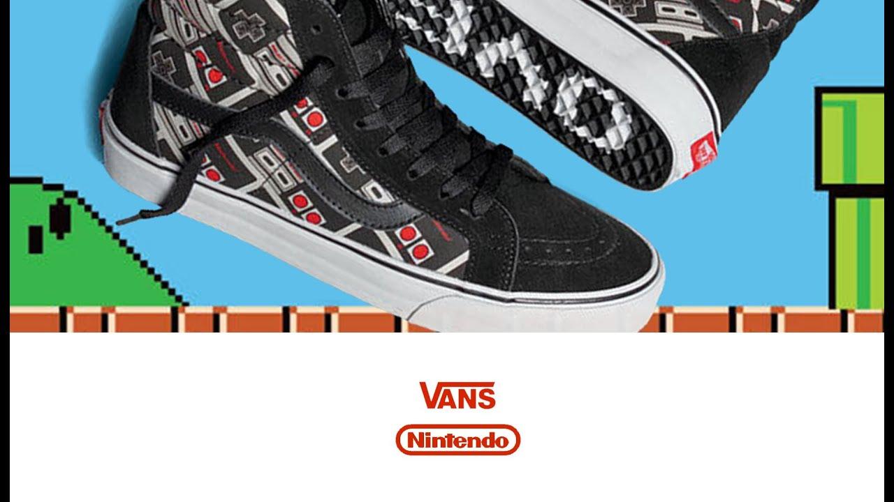 93bf95a1940 basketball shoes Vans X Nintendo Sk8 Hi - YouTube