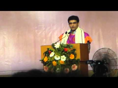 SOURAV GANGULY AT 16TH ANNUAL CONVOCATION OF BENGAL ENGINEERING AND SCIENCE UNIVERSITY