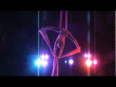 Silk Curtain Dancer At Circus Las Vegas