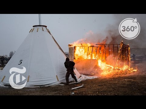 Thumbnail: A Standing Rock Camp Is Burned | The Daily 360 | The New York Times