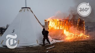 A Standing Rock Camp Is Burned | The Daily 360 | The New York Times