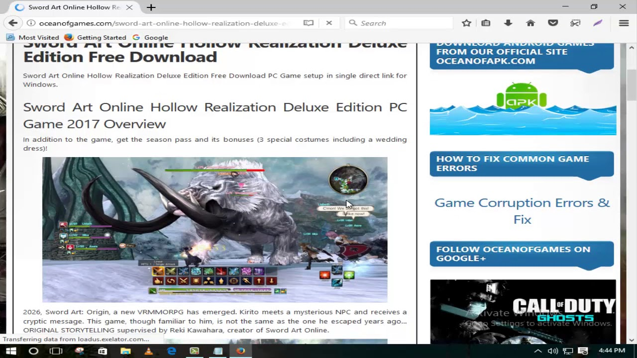 sword art online hollow realization deluxe edition pc download