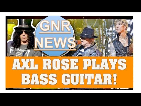 Guns N' Roses Throwback! Axl Rose Playing Bass Guitar!